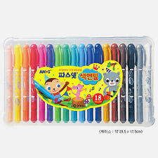 18 Colors AMOS PASNET COLORIX Silky Crayon Colored Pencil Pastels Watercolors