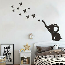 Elephant Blowing Butterfly Vinyl Home Decor Art Wall Decal Sticker Kids Bedroom