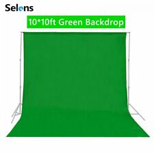 Solid Green Photography Background Cloth Studio Prints Screen Backdrop 10*10ft