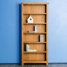 Surrey Oak Tall Bookcase / Oak Wood Large Bookcase / Brand New Rustic Oak