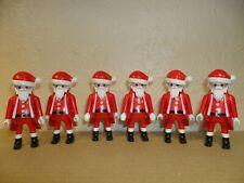 PLAYMOBIL 6 SANTA FIGURES Father Christmas,Xmas,stocking filler,cake decoration