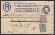South West Africa 1922 South Africa King George V 6d Registered Letter, Germany