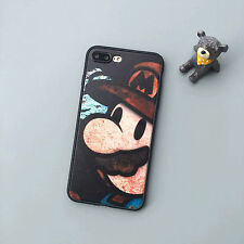 Funny Super Mario Rubber Soft Side PC Hard Case Cover for iPhone 5s 6 6s 7 Plus for iPhone 5 5s SE 2