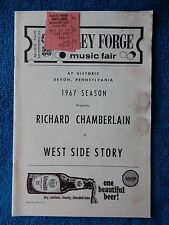 West Side Story - Valley Forge Music Fair Playbill w/Ticket - August 12th, 1967