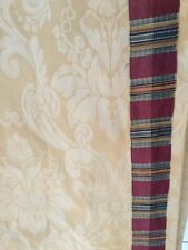 GORGEOUS CUSTOM SCHUMACHER CURTAIN DRAPE,PINCH PLEATED,FRENCH YELLOW DAMASK
