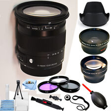 Sigma 17-70mm f/2.8-4 DC Macro OS HSM Lens for Canon!! PRO KIT BRAND NEW!!