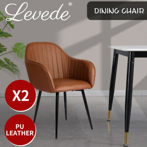 Levede 2x Armchair Lounge Chair Accent Armchairs Velvet Dining Chairs Soft Sofa