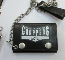 OCC  WALLET LEATHER  NEW OUT OF PRINT SUPER RARE ORANGE COUNTY CHOPPERS