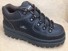 SKECHERS Vtg 90's Tough Shoes Women US 7.5 Brown Leather Platform Boho Grunge