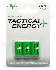 Viridian CR2 3 Volt Lithium Battery 3-Pack New Free Shipping Tactical Engergy+