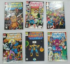 The INFINITY GAUNTLET #1-6 Marvel Comics ALL ISSUES are VF-NM+ Avengers Endgame