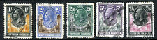 NORTHERN RHODESIA KG V 1925-29 Giraffe & Elephants High Values SG 10 - SG 15 VFU