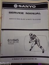 SANYO Vintage Original Black and White Television 61V84S Service Manual