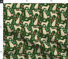 New listing Golden Retriever Dogs Cute Xmas Holiday Christmas Spoonflower Fabric by the Yard