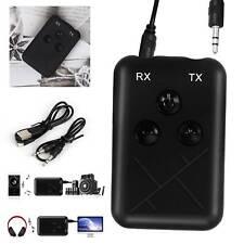 Receptor transmisor inalámbrico Bluetooth 2 en 1 Adaptador Aux Audio Música estéreo Reino Unido
