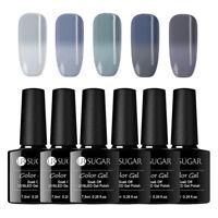 5 Bottles UR SUGAR 7.5ml Soak Off UV Gel Polish Color Changing Thermal Nail Gel