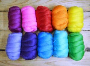 Carded Batts Wool Tops 23 Mic Merino Wool For Felting Spinning Needle Felting