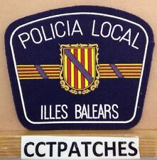 ILLES BALEARS, SPAIN POLICIA LOCAL POLICE SHOULDER PATCH