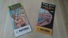 2 National Airlines 1958 Miami Beach Havana Nassau summer Timetable HOTEL MOTEL