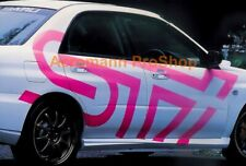 Large Side Door Decal Sticker for sti impreza wrx brz forester legacy xv outback