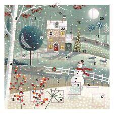 Casa rural tradicional Navidad Calendario de Adviento - 24 puertas Ilustrado obra de arte