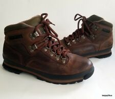 ~NICE!~ Women Timberland Euro Hiker Hiking Trail Ankle Brown Leather Boots 9.5 M