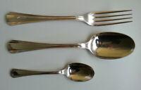 3 PIECES CHRISTOFLE ( 1 Fourchette + 2 Cuillères ) - Modèle Identique - Poinçons