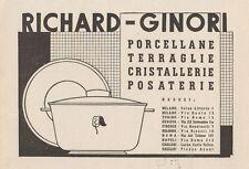Z1301 Porcellane RICHARD-GINORI - Pubblicità d'epoca - 1936 Old advertising
