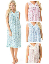 Casual Nights Women's Cotton Blend Sleeveless Fancy Ruffle Embroidered Nightgown
