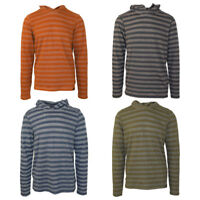 prAna Men's Striped Light-Weight L/S Pull Over Hoodie (Retail $49)