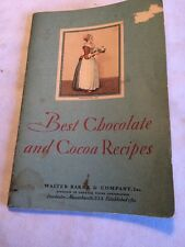 Vintage Walter Baker Co. Best Chocolate And Cocoa Recipes. 1931 Booklet