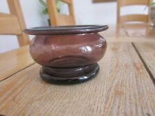 EXCELLENT CONDITION FREE BLOWN 19TH CENTURY AMETHYST LEECH BOWL