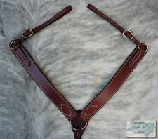 BURGUNDY Western Leather Breast Collar Made In USA!! NEW HORSE TACK!!