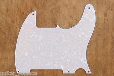 Golpeador Pickguard Blanco Perlado Telecaster Esquire 3 Capas 5 Agujeros 3 Ply