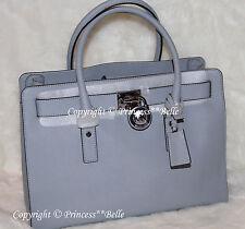 NWT MICHAEL KORS Hamilton LARGE Satchel Tote Bag Purse Handbag Dusty Blue