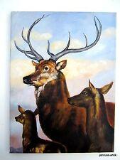 Künstlerische Malerei mit Hirsch-Motiv von 1950-1999