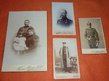 4 Soldaten Fotos CDV Charlottenburg Celle Heidelberg Potsdam Pickelhaube Säbel