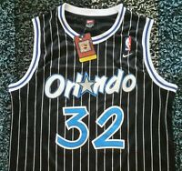 1c1b8a7a7 NWT Shaquille Shaq O neal Orlando Magic Black Throwback Swingman Jersey XL
