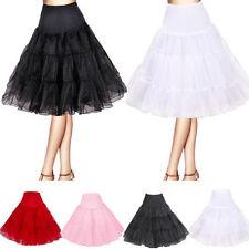 Retro Petticoat Röcke Tutu Tüllrock Unterrock Rockabilly Pettiskirt Unterkleider
