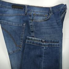 Ring of Fire Men's 34 x 34 Straight Fit Stretch Blue Jeans Denim Zipper Fly