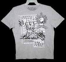 Sz L T-Shirt JUSTICE & LIBERTY Cotton Gray EXPRESS