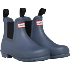 Hunter Original Chelsea Boots Womens Ankle Wellies Mineral Blue in Size 4