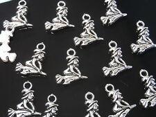 22 Colgantes Pequeños Zamak, Bruja, pendant, pendentif, anhänger