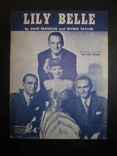 Lily Belle Sheet Music Vintage 1945 The Pied Pipers Dave Franklin I Taylor (O)