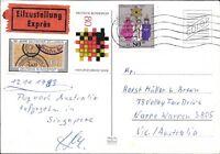 CLB60) Nice W. Germany 1983 Card German Customs, Fed State Gov.'s, Christmas