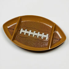 "Football The Big Game 16.25"" Melamine Three Section Serving Platter Tray"