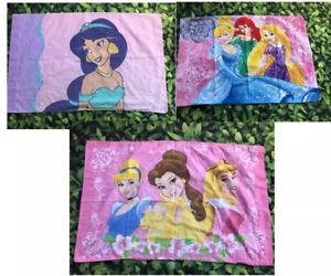 Vintage Disney Princess reversible Pillowcase Lot Of 3 Cinderella Belle Aurora