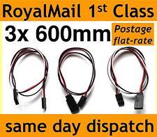600 mm Servo Extension Lead Cable de alambre para rc/futaba/jr / hitec/sanwa 60cm