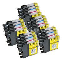 20 Patronen für Brother DCP195C MFC5890CN 490CW DCP145C DCP165C LC980 LC1100 SET