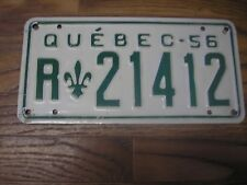 1956 Quebec Canada 62 Year Old License Plate R21412
